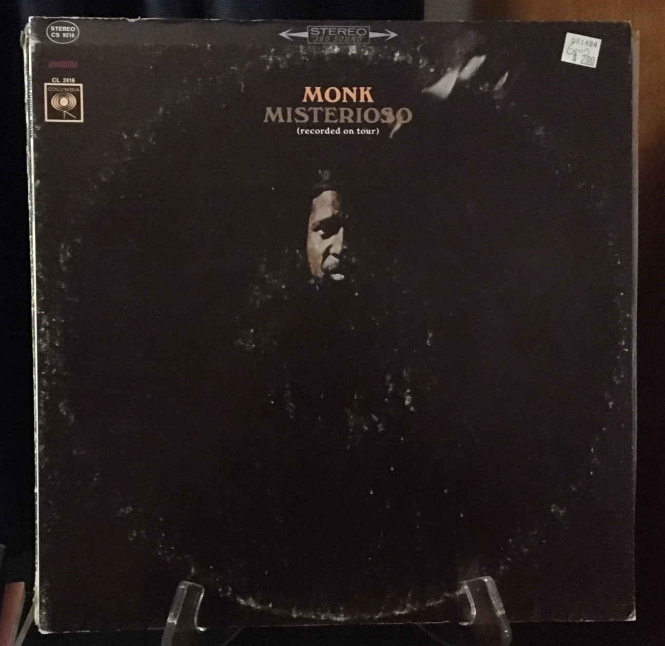 Cover of the Thelonious Monk LP Misterioso