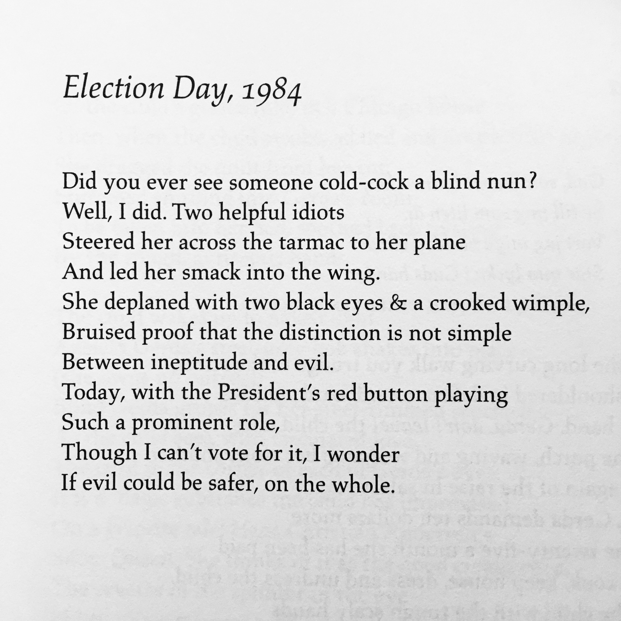 election day 1984 by carolyn kizer