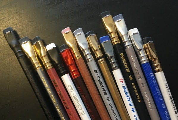 A bunch of Blackwing pencils