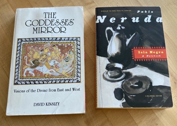 The Goddesses' Mirror by David Kinsley and Isla Negra by Pablo Neruda