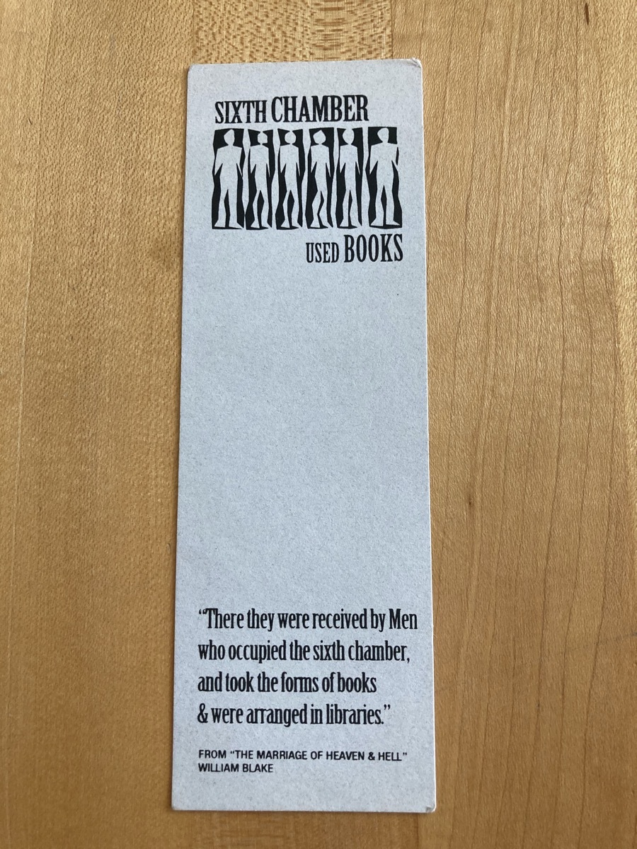 Front of Sixth Chamber bookmark