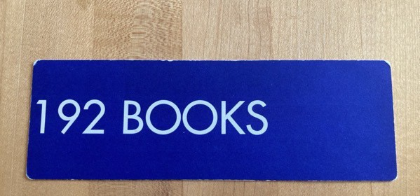 Bookmark with 192 BOOKS in large letters