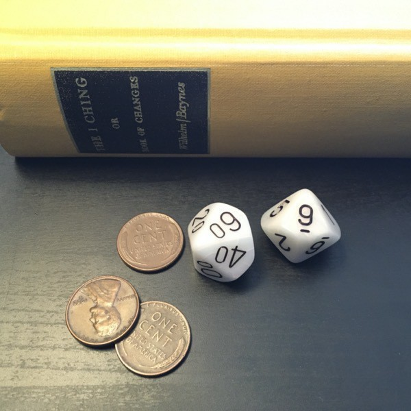 three pennies, 2d10, the I Ching