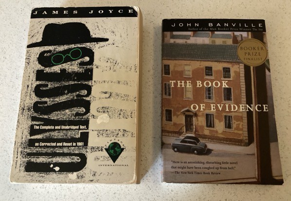Ulysses by James Joyce and The Book of Evidence by John Banville