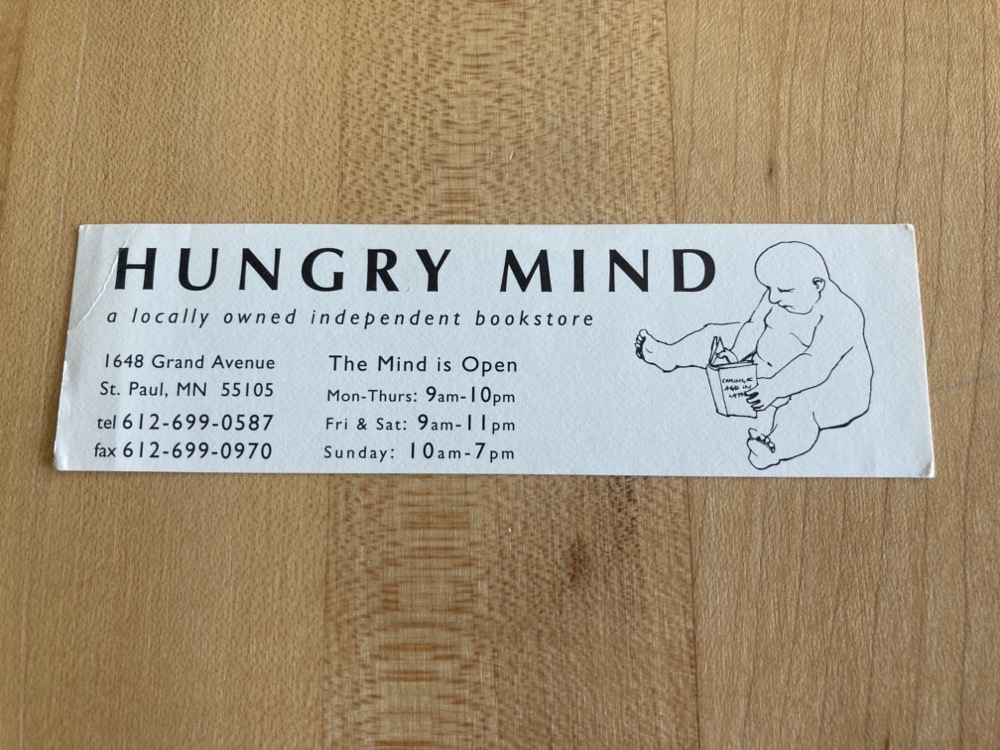 Hungry Mind bookmark