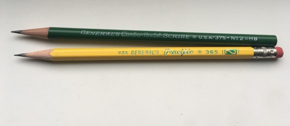 General's Scribe and Pacific pencils