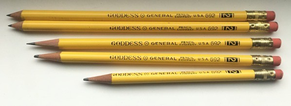 five Goddess pencils