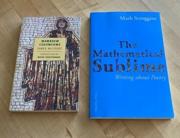 Mawrdew Czgowchwz by James McCourt and The Mathematical Sublime by Mark Scroggins