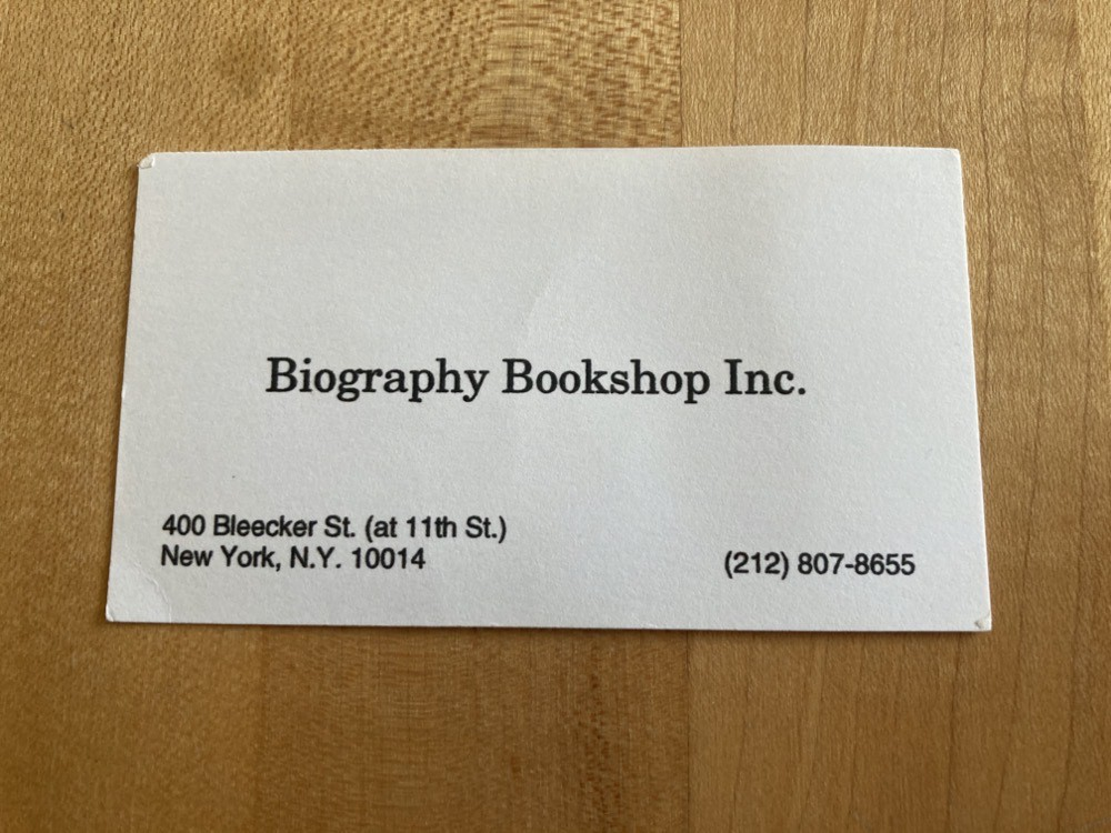 Biography Bookshop