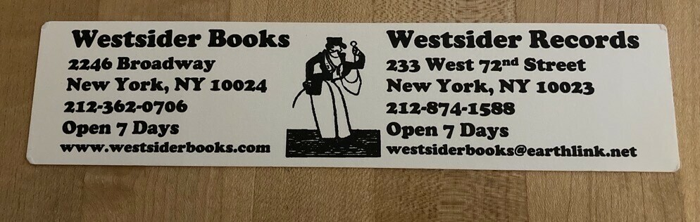 Westsider Books and Records in NYC