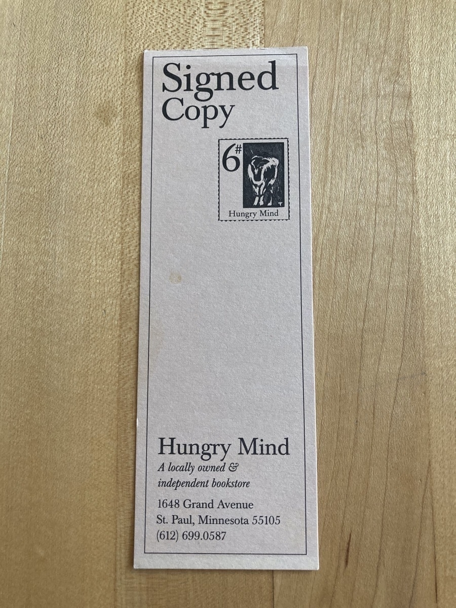 Day 32 Hungry Mind signed copy