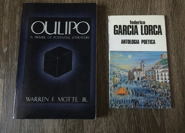 an oulipo primer by warren motte and antologica poetica by federico garcia lorca