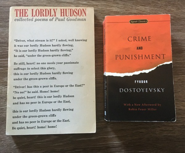 collected poems by paul goodman and crime and punishment by dostoevsky